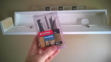 DIY Secret Compartment Floating Shelf. Mounting hardware. www.DIYeasycrafts.com