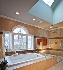 Bathroom with palladium window gets remodeled in Cary