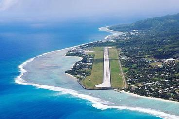 Birds Eye view of Rarotonga Airport