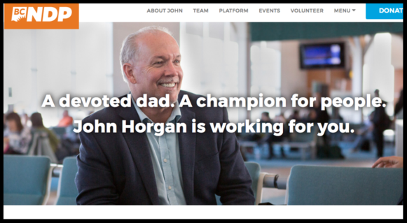About NDP Leader John Horgan