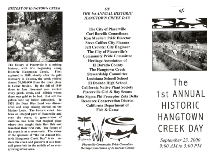 First Annual Hangtown Creek Day Placerville Community Pride Volunteers Archives Josette Johnson http://www.josettejohnson.com