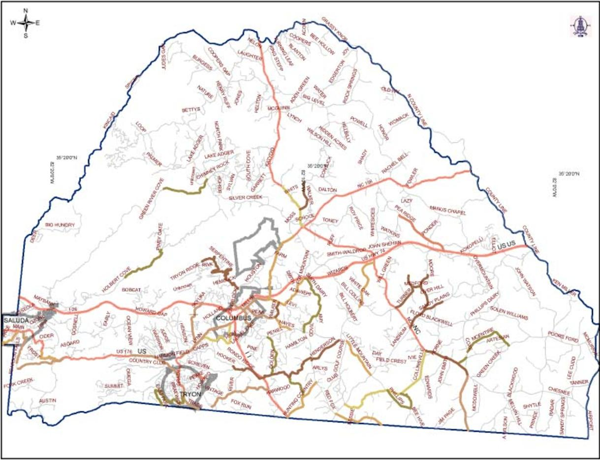 Polk County NC AdoptAHighway Area Map - Polk us map