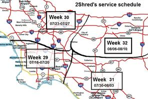 2Shred's Service Schedule