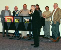 Game Show Hosts with contestants at a Corporate Event.