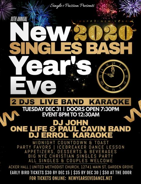 New Year's Eve Singles Masquerade Bash