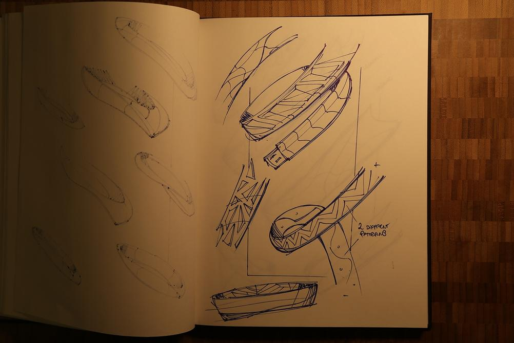 industrial design wearable concept armband sketching