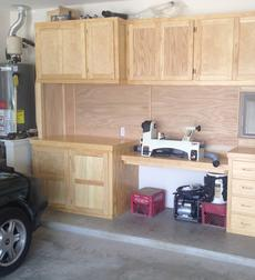 Custom work shop cabinets