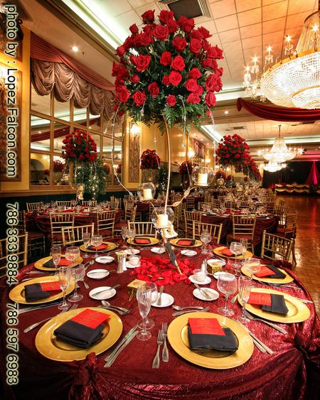 Quinceanera Phantom of the Opera Decoration Centerpieces stage photography miami