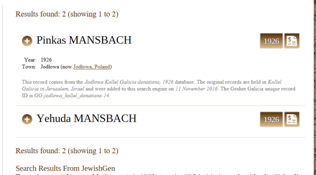 Solomon Peretz Ha Levy Mansbach Family