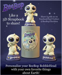 Scrap book, Alien, Happy, BeeBop,