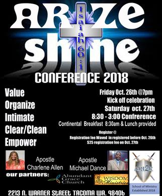 Arize & Shine registration