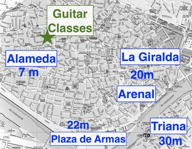 flamenco guitar classes in the center of Seville