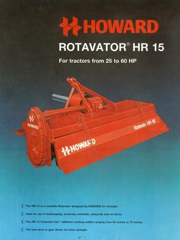 Howard Rotavator Model HR15 Brochure