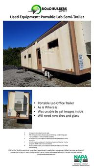 Portable Lab Office Trailer As is Where is Was unable to get images inside Will need new tires and glass