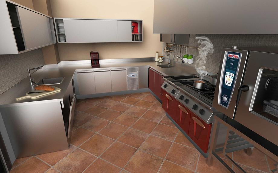 KITCHEN PRIVATE VILLA DUBAI CUCINA AGRITURISMO ARCHITECTURE INTERIORDESIGN MODELLAZIONE 3D MODEL DESIGN PROJECT DESIGN107
