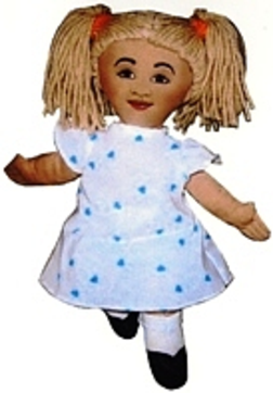 Raggedy Doll, cloth doll design