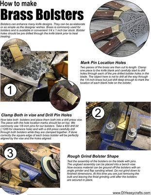 Knife Making How to Make Brass Bolsters. Free downloadable PDF from the complete online guide to knife making. www.DIYeasycrafts.com