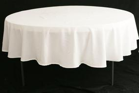 "90"" WHITE TABLECLOTHES"
