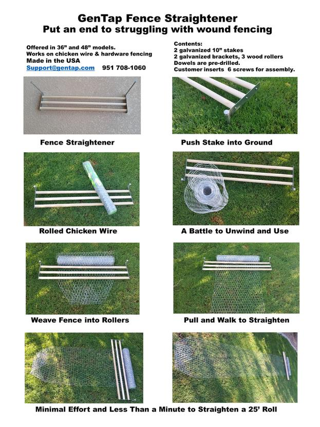 chicken wire fence tool brochure