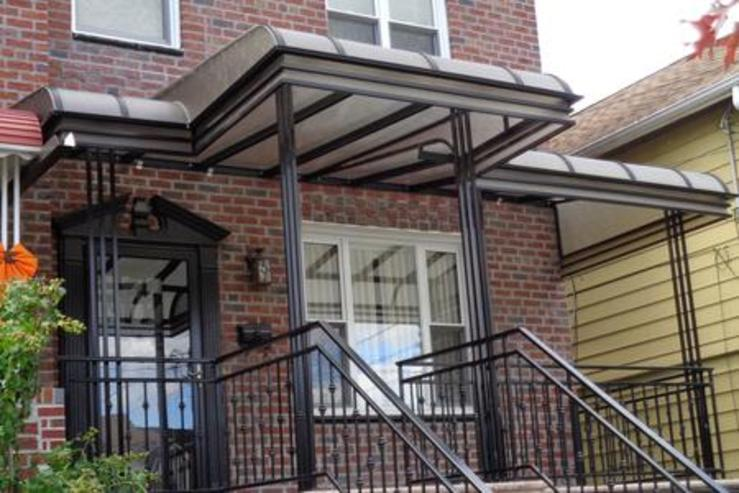 plastic type of awning made for a porch