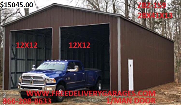Free Delivery Garages - Steel Carports, Steel Garages, Metal