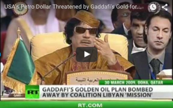 Image result for gaddafi and saddam challenged petrodollar