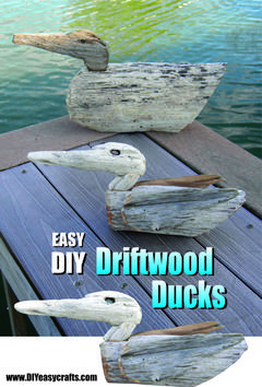 Easy DIY Driftwood Ducks. www.DIYeasycrafts.com