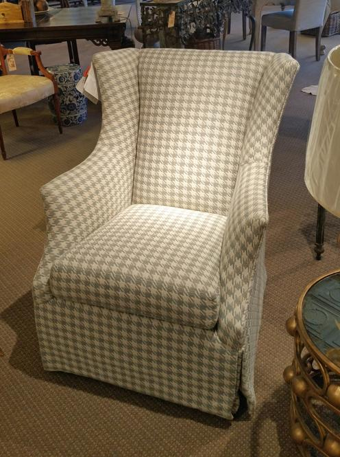 C. R. Laine glider swivel arm chair bespoke custom new