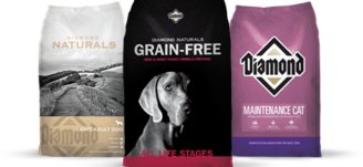 Diamond Grain Feed, Natural and Taste of Wild dog food