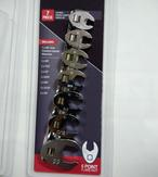 "< img src = ""6 points crowfoot wrench set.jpg "" alt = "" 6 points crowfoot wrench set flare nut with rail track"" >"