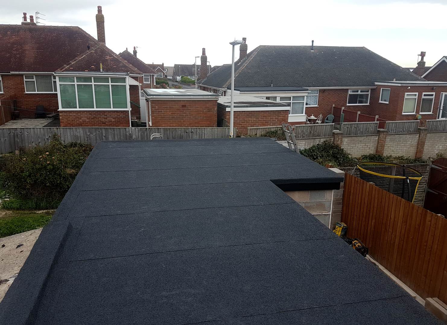New garage roof in Blackpool