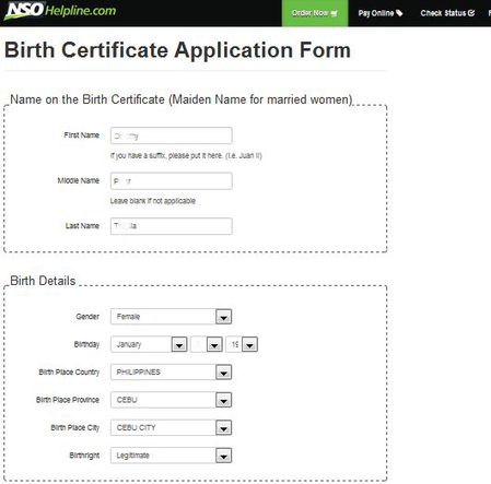 Nso helpline secure birth certificate marriage cenomar online nso helpline secure your documents in 2 to 3 days yelopaper Images