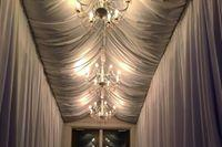 Specialty Lighting and Draping at wedding reception in Biloxi MS