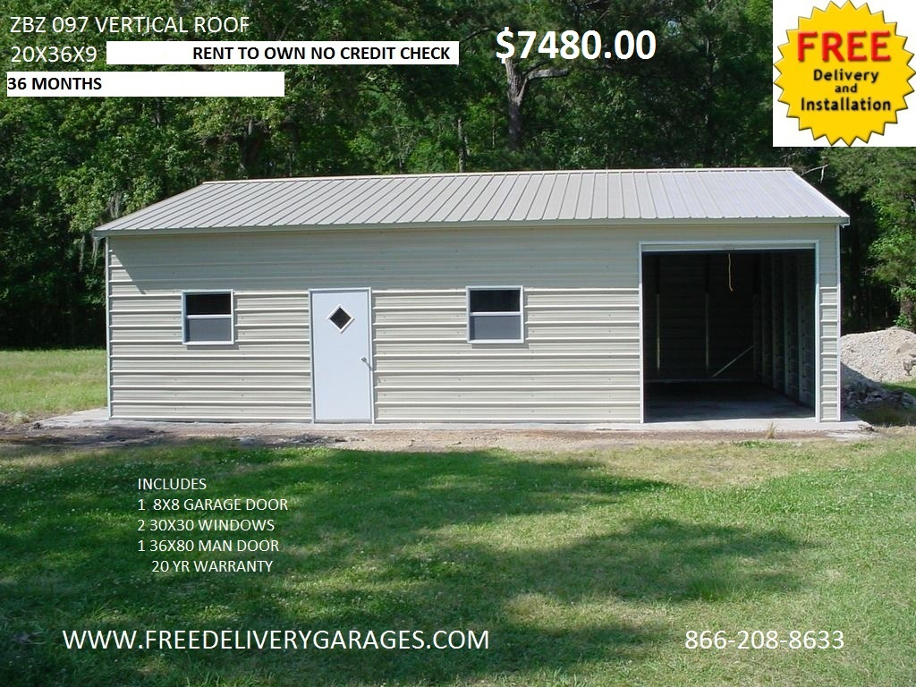 Free Delivery Garages - Steel Carports, Steel Garages, Metal