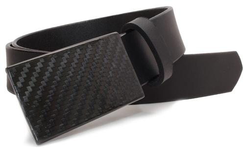 Metal free carbon fiber belt has sophisticated look, perfect for metal allergies and airline travel