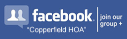 Join Copperfield HOA on Facebook