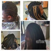 Crochet Extensions on very Short Hair with Braids