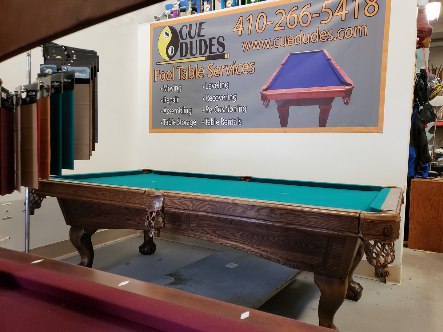 Refurbished Tables - Pool table repair maryland