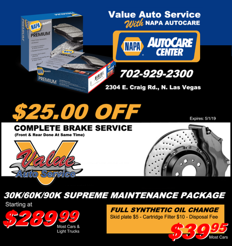 Brake Service Coupon Special North Las Vegas