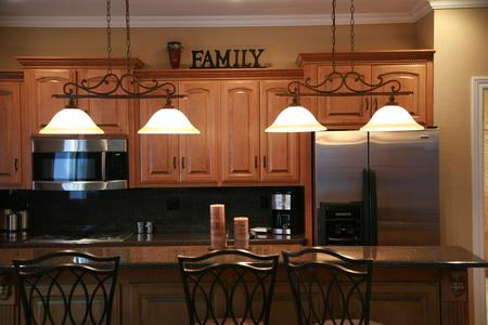 Kitchen island new wood cabinets kitchen remodel custom lighting kitchen bar Parker Colorado