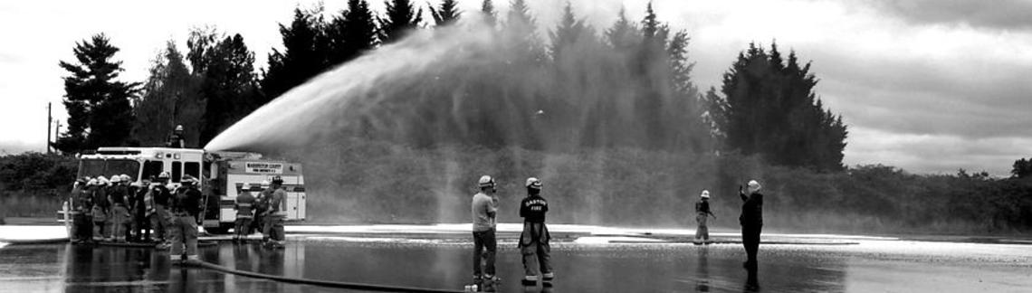 Firemen at a training session