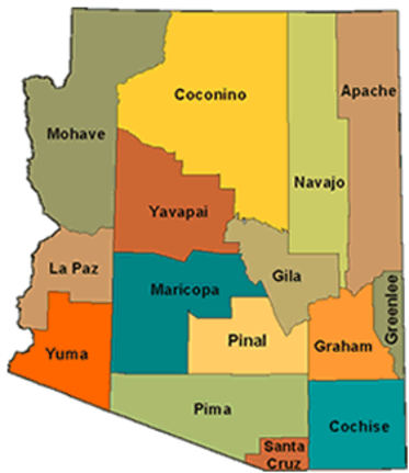 Counties Of Arizona Map.Resources