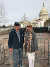 Grady & Doris Hawkins in Washington for the Inauguration.