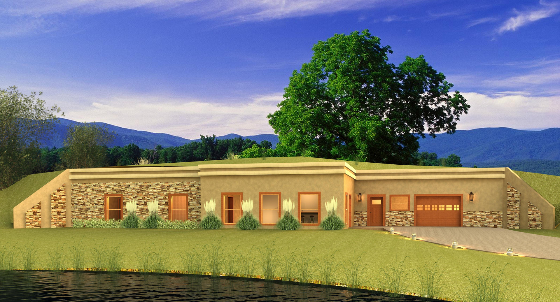 earth sheltered home design home and landscaping design