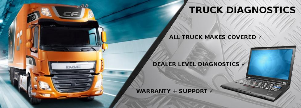 DIAG-X truck diagnostic packages