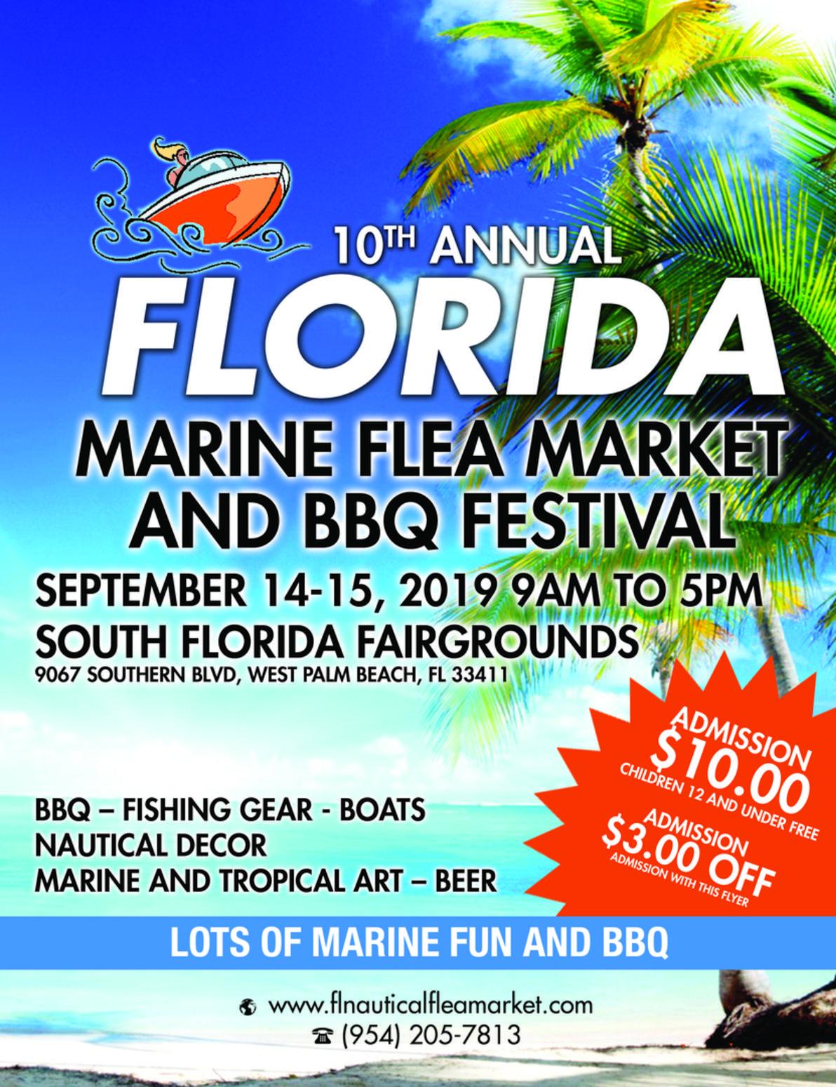 10th Annual Palm Beach Marine Flea Market and BBQ Festival