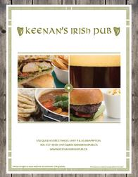 Keenan's Irish Pub Menu