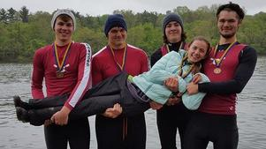 Our 4+ after receiving their bronze medals