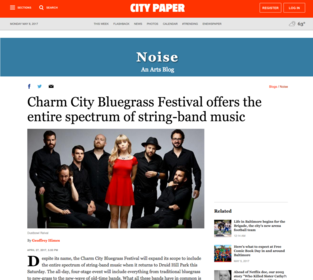 Baltimore City Paper, Charm City Bluegrass Festival