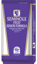 Seminole Senior Mix formulated to meet the special needs of older horses. 50 pounds